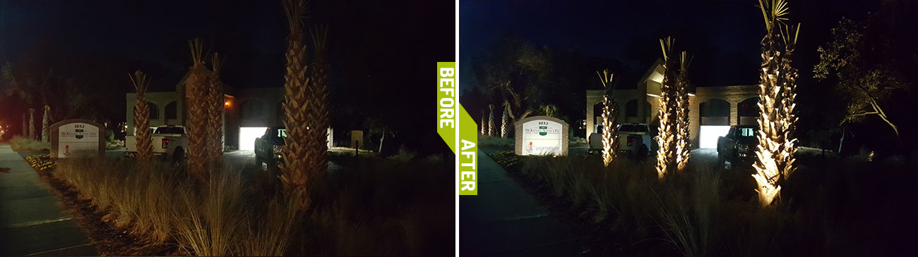 landscape lighting charleston grounds management